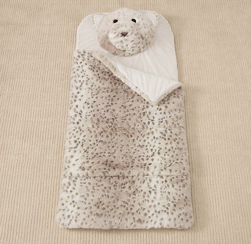 59d916c5b010 adorable    Luxe Faux Fur Animal Sleeping Bag