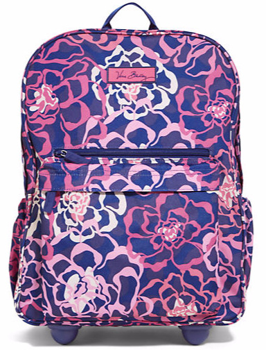 82ad1c0c8d4b Lighten Up Rolling Backpack in Katalina Pink Vera Bradley