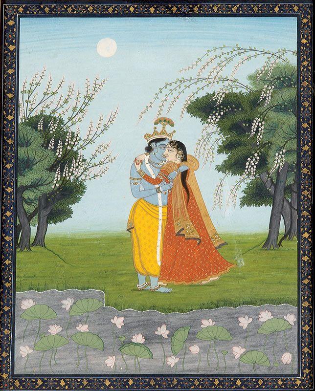 Abhisarika Nayika, Couple of lovers, about 1800