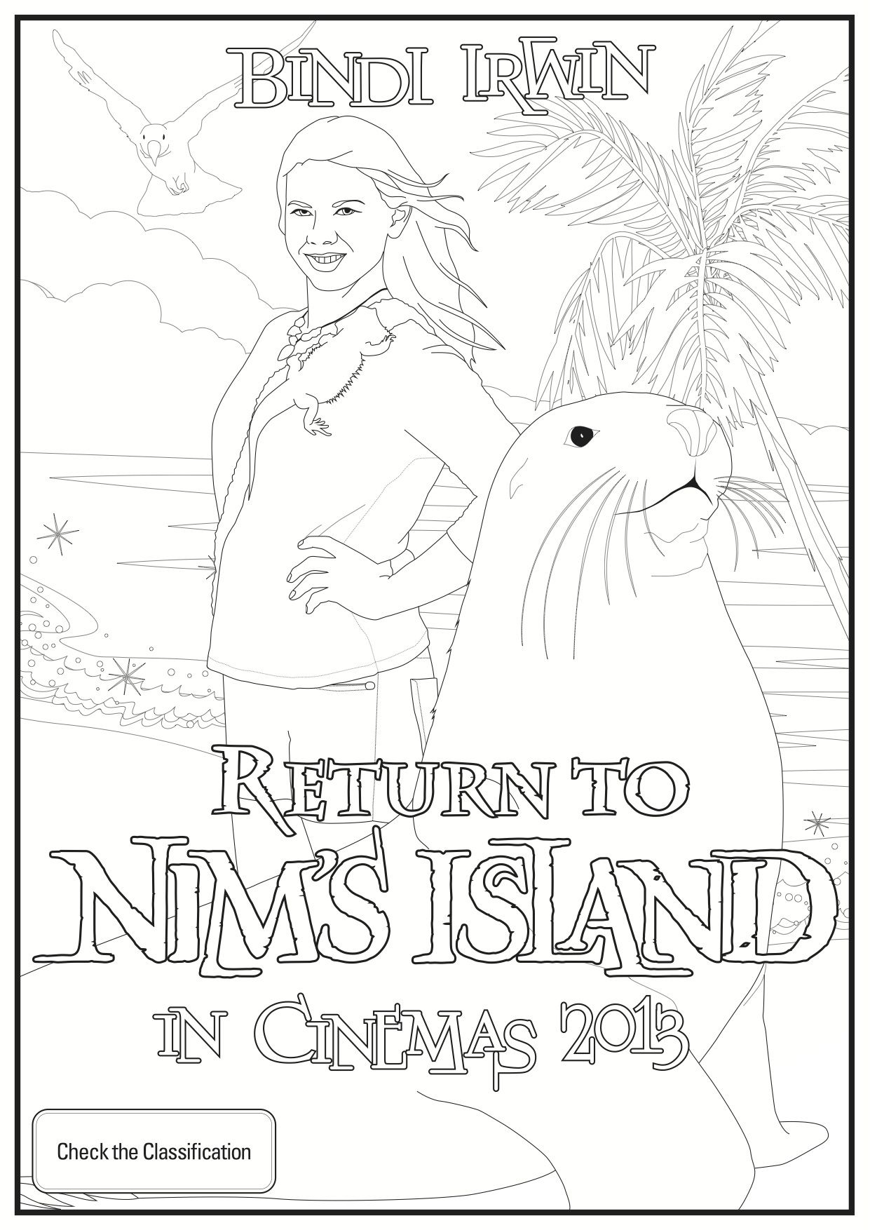 nims island coloring pages - photo#4