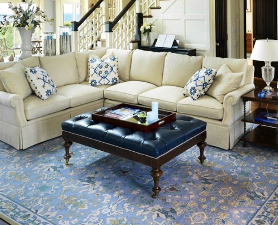 Blue Leather Tufted Coffee Table Furnishings That Suite Me Pinterest Farmhouse Chic