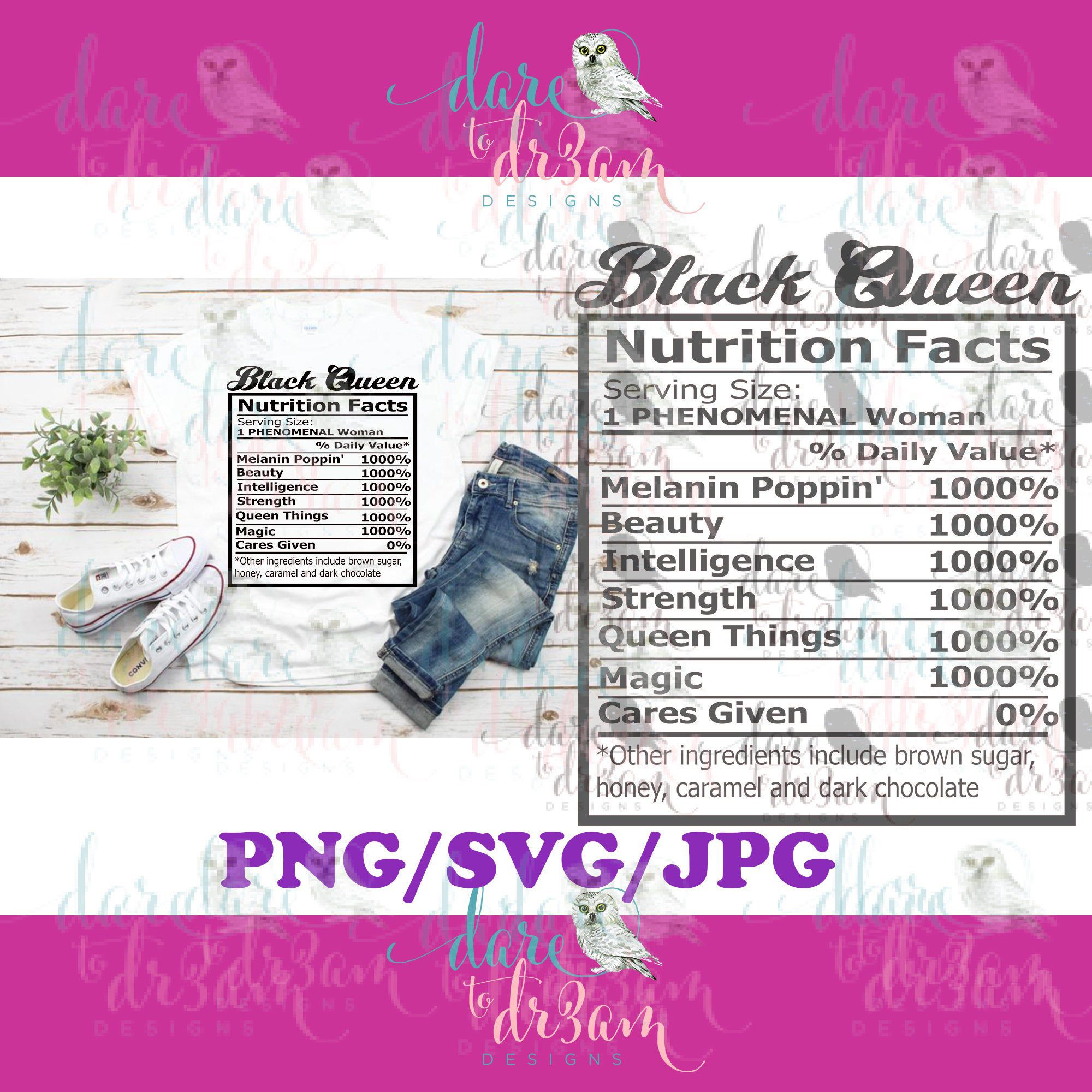 Black Queen Nutrition Facts Svg Png Jpg Etsy Nutrition Facts Facts Nutrition