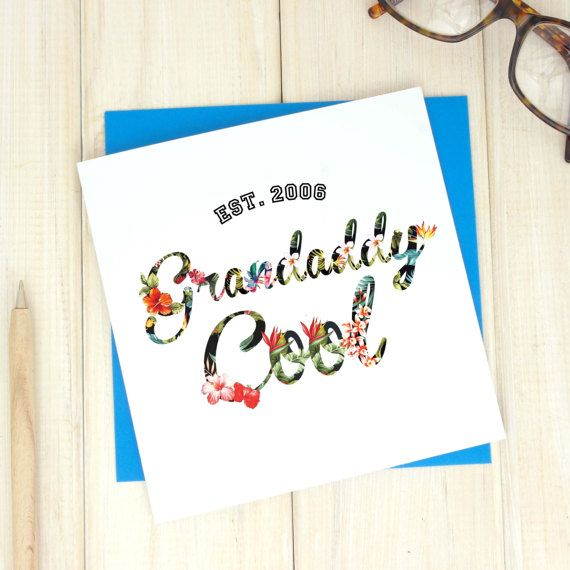 Grandaddy cool fathers day card daddy cool fathers day gift grandaddy cool fathers day card daddy cool fathers day gift grandad birthday card bookmarktalkfo Images