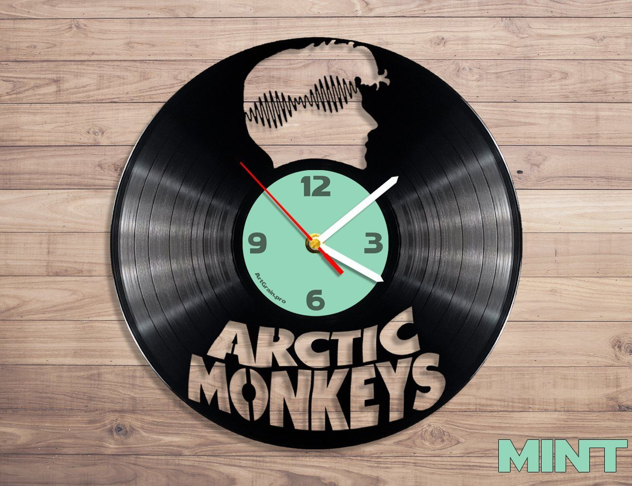 Amazon Com Arctic Monkeys Vinyl Record Wall Clock Home Kitchen Arctic Monkeys Monkey Wall Clock