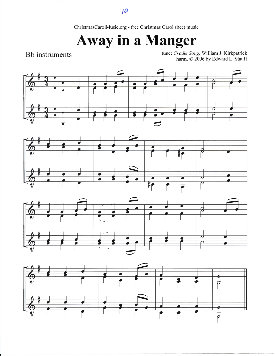 A Christmas Eve Songbook Sheet Music FREE Printable for