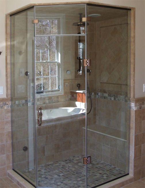 Solid Bench Topper Frameless Shower Doors Shower Doors