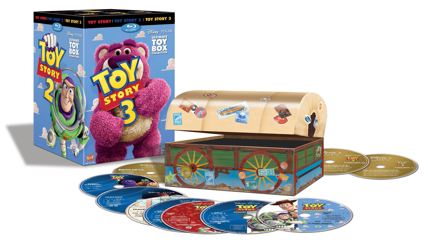 Toy Story Trilogy Box Set With Special Toy Box Packaging Ign Boards Toy Story 3 Movie Movies Box Boxset