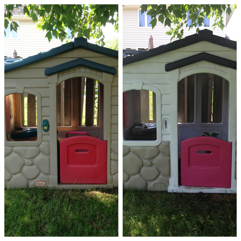 My little tikes playhouse transformation Rustoleum 2X spray paint