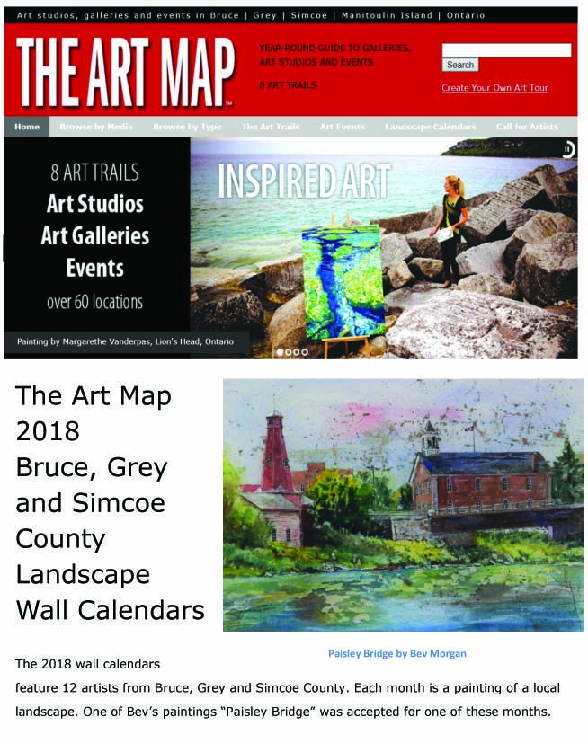 """Paisley Bridge"" painting by Bev Morgan    Accepted as one of the featured Artists for 2018 Art Map Calendar        The story behind th..."