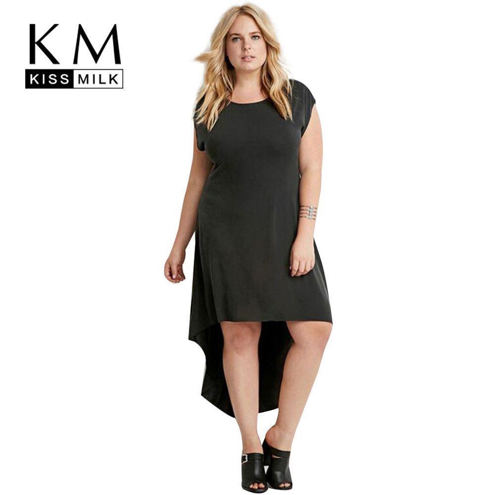 Buy kissmilk plus size new fashion women clothing solid streetwear
