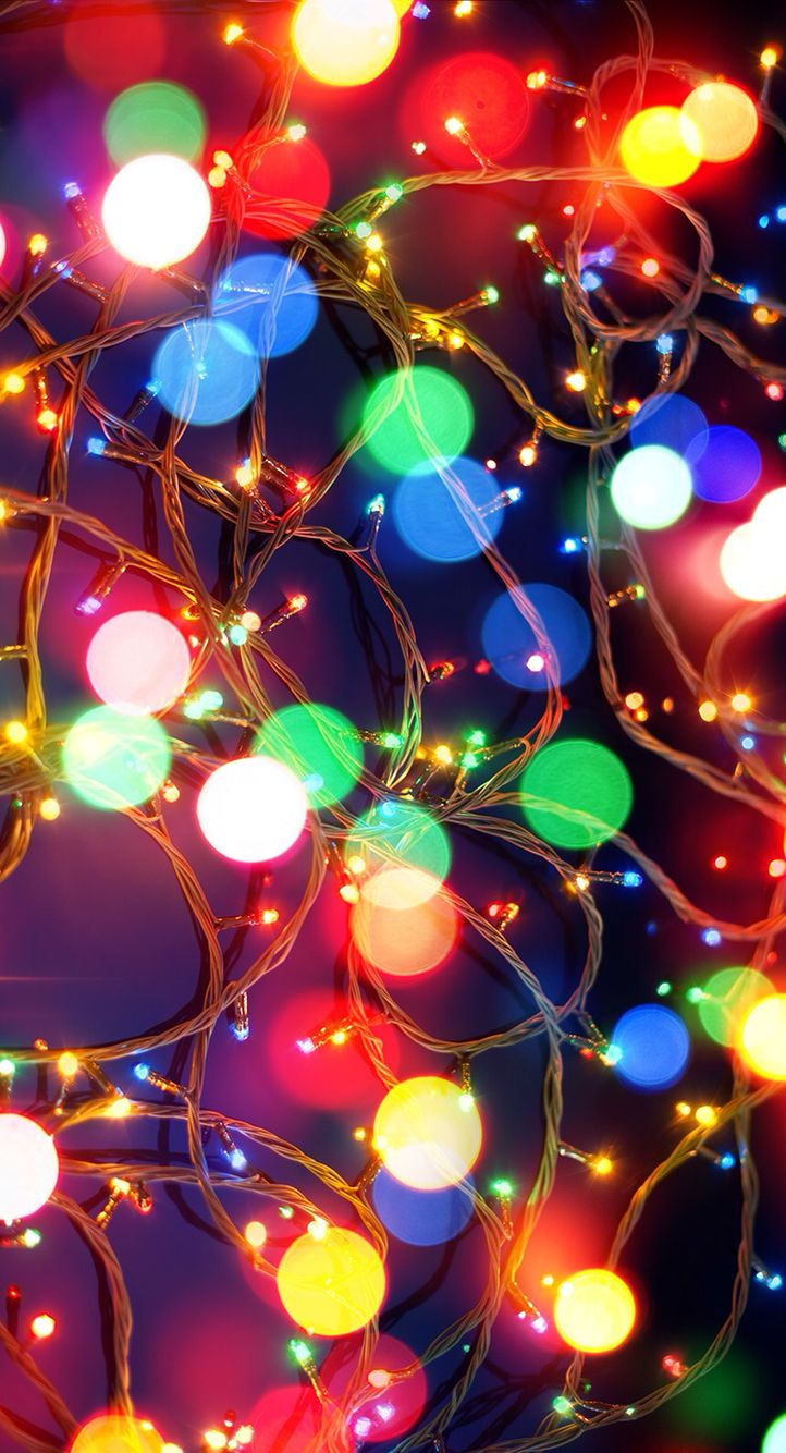 Christmas lights iPhone wallpaper (With images