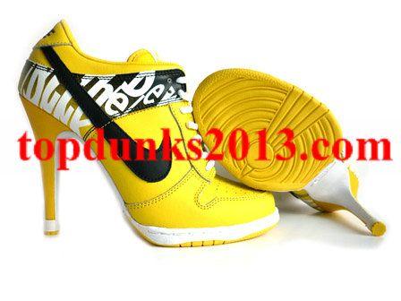 Yellow Black Do The Dew Women High Heel Nike SB Dunk Discount  a5d3eef3d