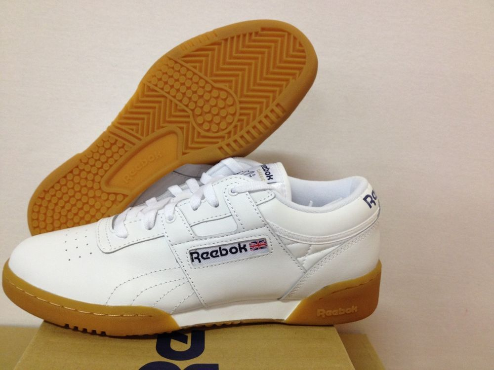 11.5 size REEBOK WORKOUT LOW CLASSIC MENS STYLE 63978 WHITE GUM NWB  MULTIPLE SIZES  REEBOK  AthleticSneakers 4ffce9a0c
