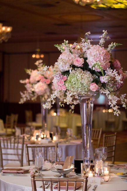 Trumpet Vase Centerpieces Design By Lee Forrest Designs