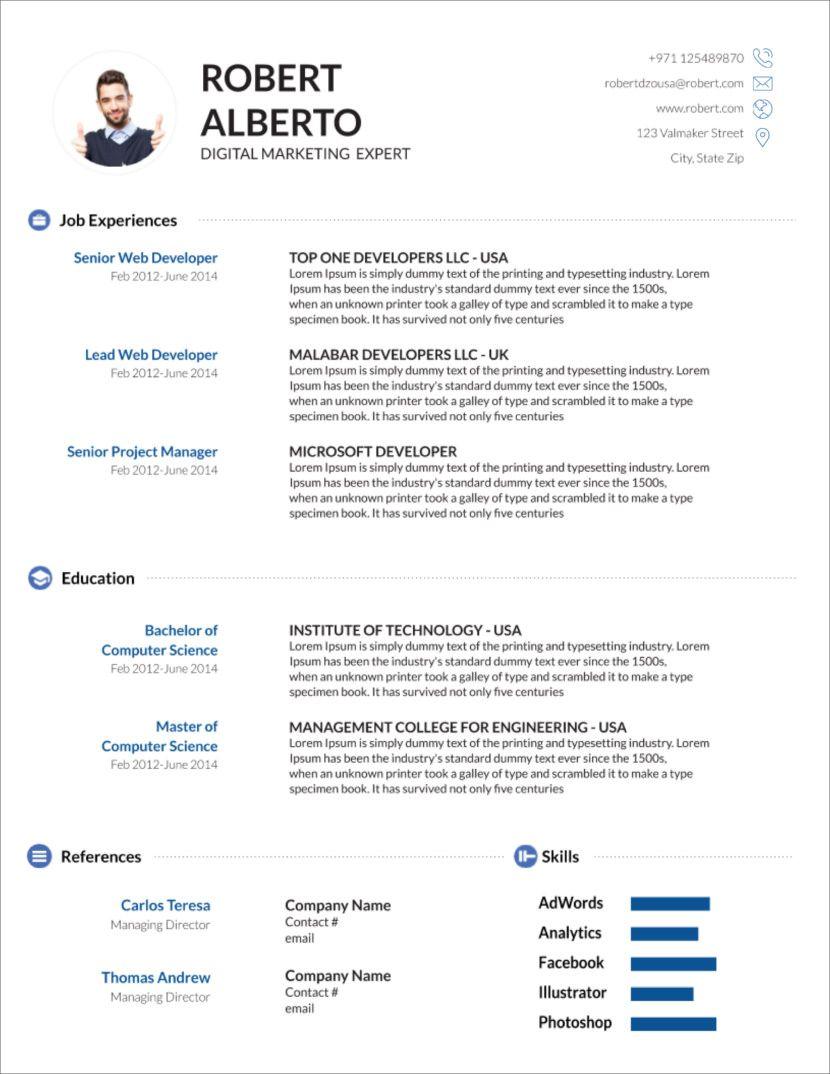 45 Free Modern Resume Cv Templates Minimalist Simple Clean Design Microsoft Word Resume Template Downloadable Resume Template Cv Template Word