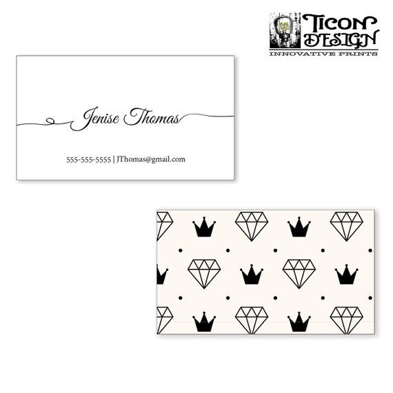 business cards diamond thick paper standard business card size free us shipping - Us Business Card Size