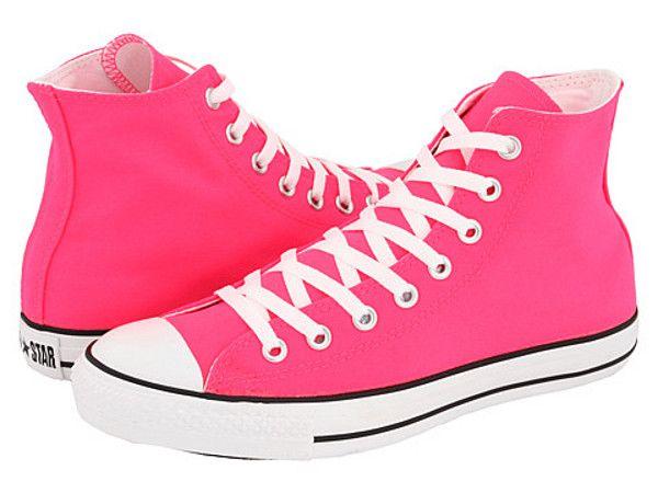 ac7a2f484c08 neon pink chuck taylors! (