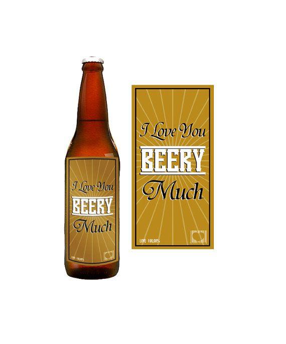 INSTANT DOWNLOAD diy Valentines Beer Bottle Printable ...