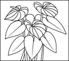Image Result For Anthurium Pattern Free Coloring Pages Anthurium Stained Glass Flowers