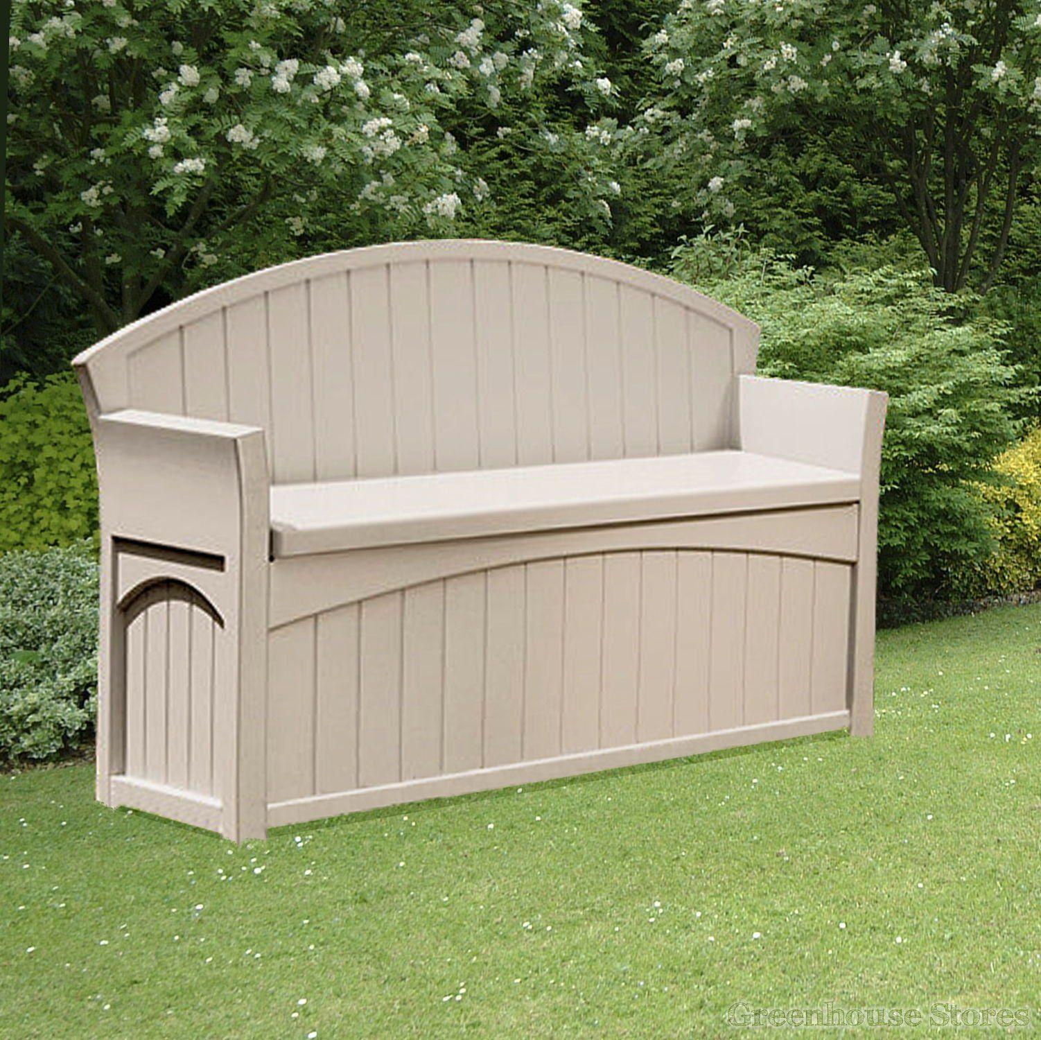 Suncast 189 Litre Plastic Storage Bench Greenhousestores Co Uk Outdoor Storage Bench Patio Storage Bench Garden Storage Bench