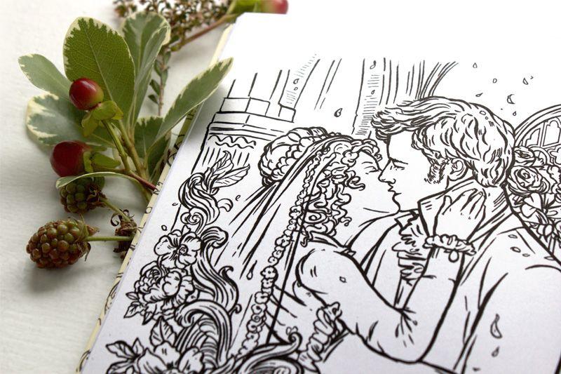 Colour Me Jane, a Jane Austen Adult Coloring Book   Pride & Prejudice Wedding   Clarkston Potter   Jacqui Oakley Illustration