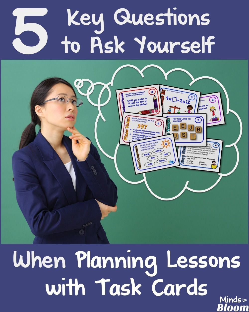Task cards are an incredible instructional tool, but they're really taken to the next level when you're intentionally lesson planning with task cards. This post guides you through five questions to ask yourself when you're planning to incorporate task cards so that both you and your students get the most out of using them in class.