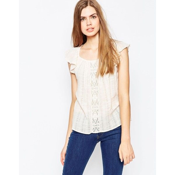 3057a58e5c9 Vila Short Sleeve Cheese Cloth Top With Embroidered Detail ($21 ...