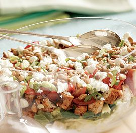 Seven-Layer Grilled Southwestern Chicken Salad #finecooking
