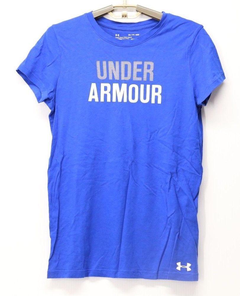 Women s Under Armour Heat Gear Loose Fit Short Sleeve Shirt Blue XS   Underarmour  shirtsTops 5c15b61391