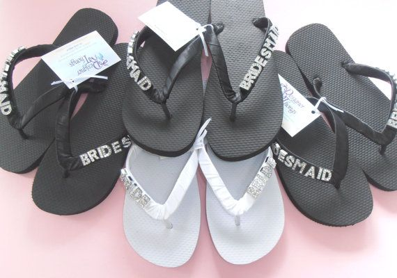 40647f9ff Bride and Bridesmaid Personalised Thongs   Flip by DesignerThongs ...