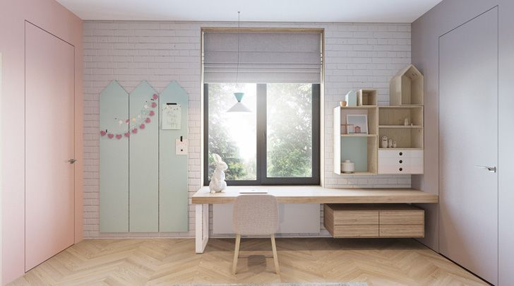 Dos habitaciones infantiles de diseo en tonos soft Room