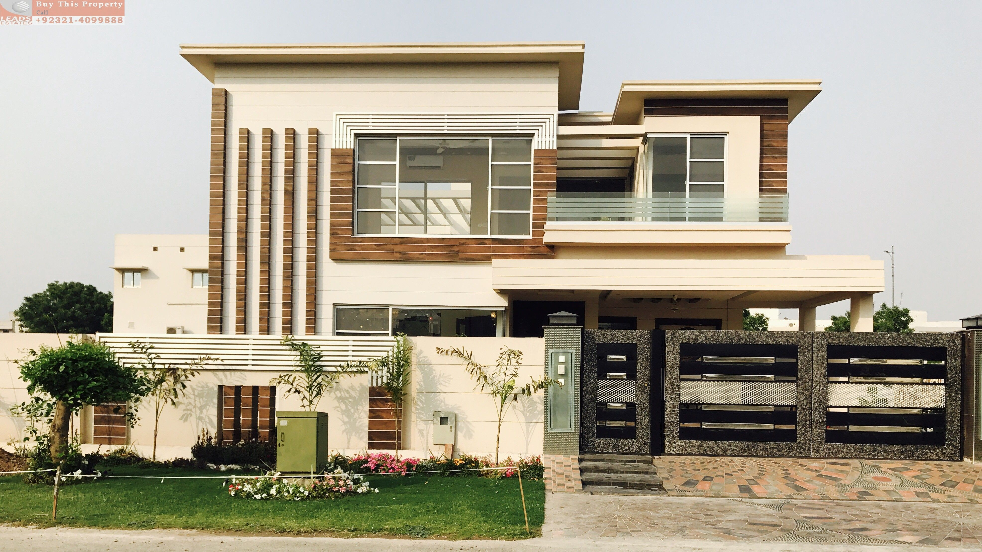 Leasa Real Estates Offer S Brand New House For Sale 5 Marla Brand New House For Sale In Dha 9 Town Most Bea House Exterior Duplex House Design House Elevation