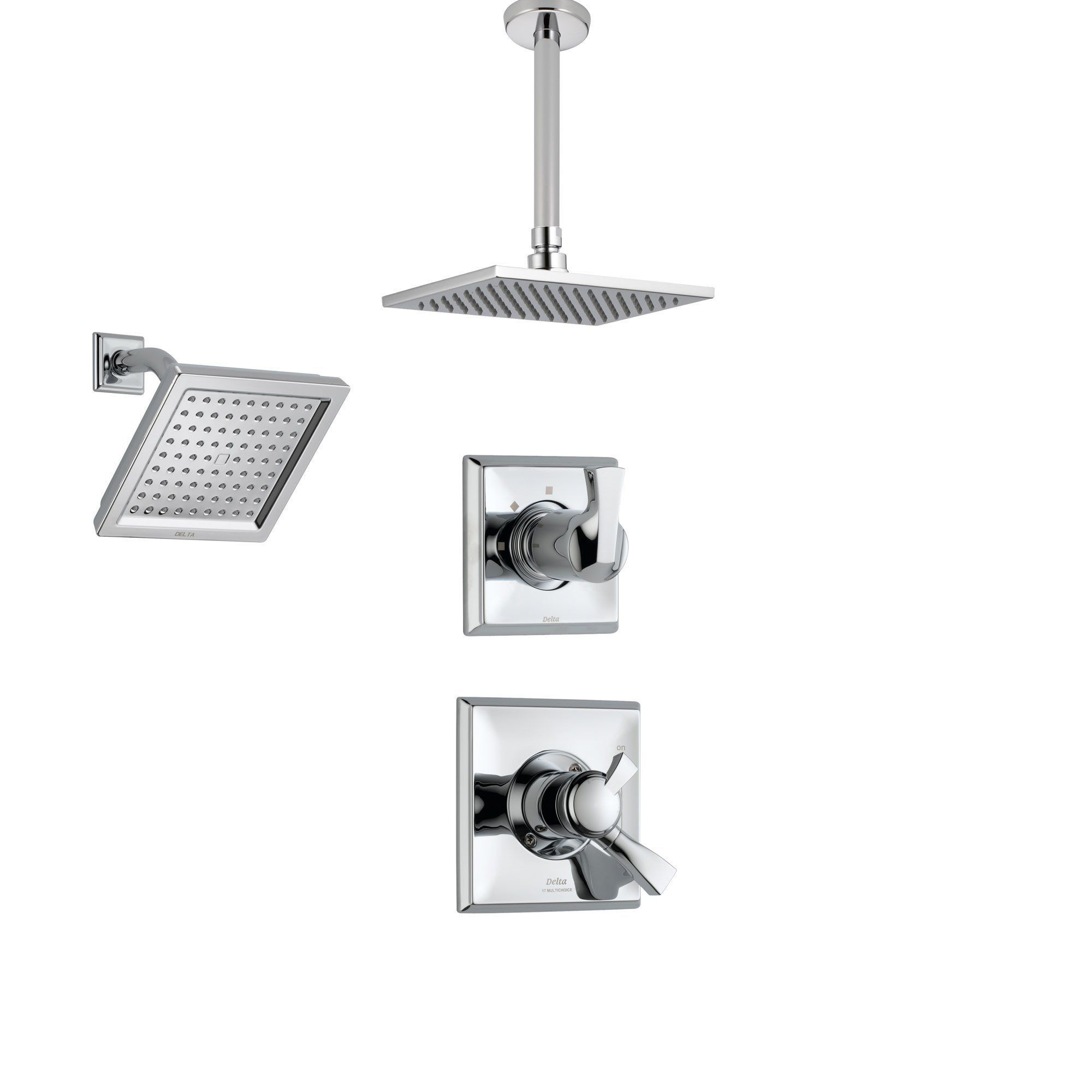 Delta Dryden Chrome Shower System With Dual Control Shower Handle