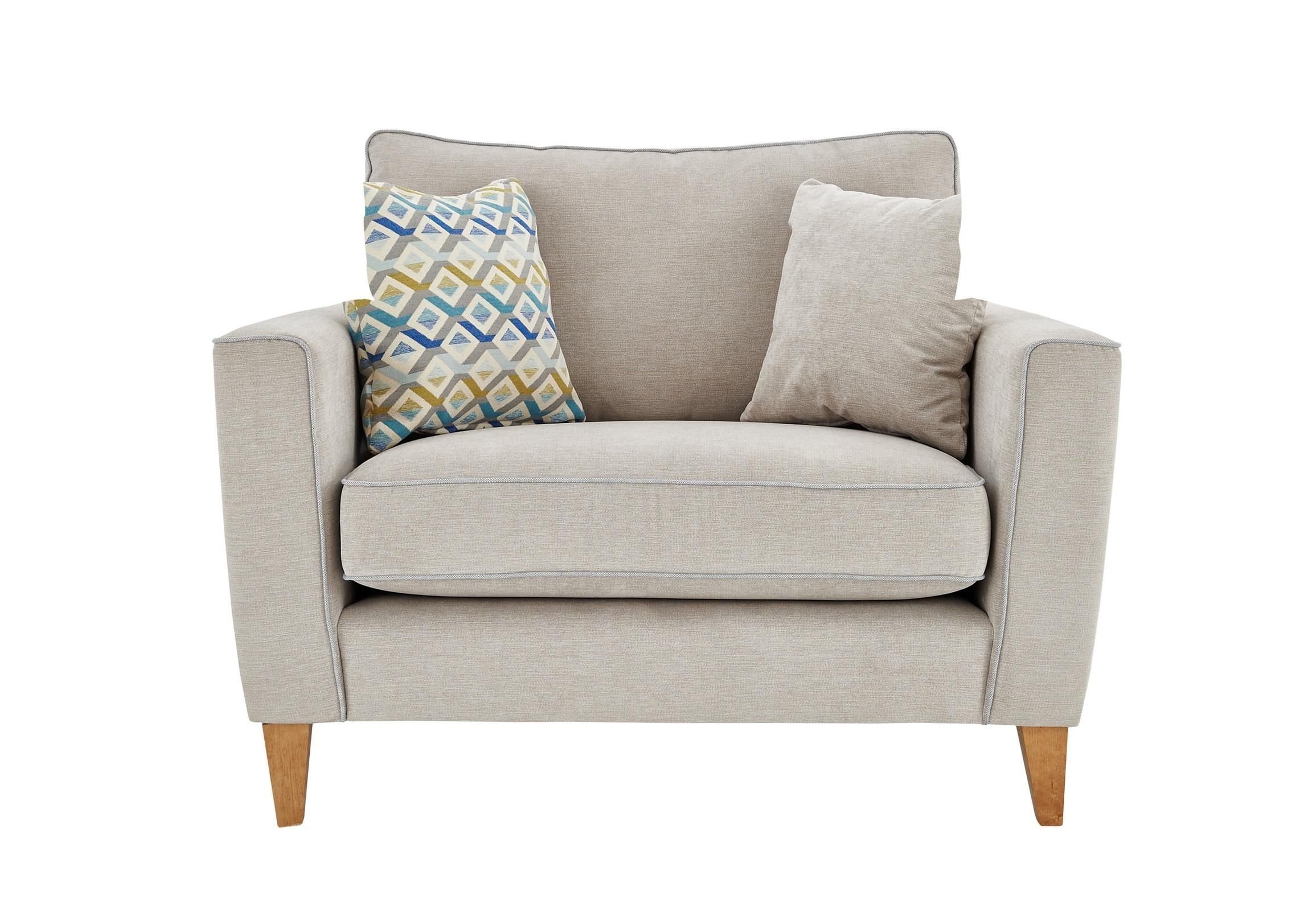 Clean, contemporary Scandi style Snuggler chair is cosy ...