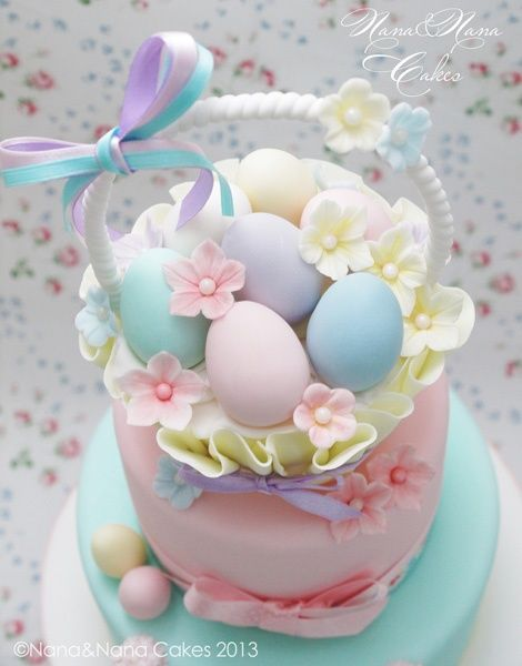 Gorgeous Easter Cakes Easter Basket Cake Beautiful Easter