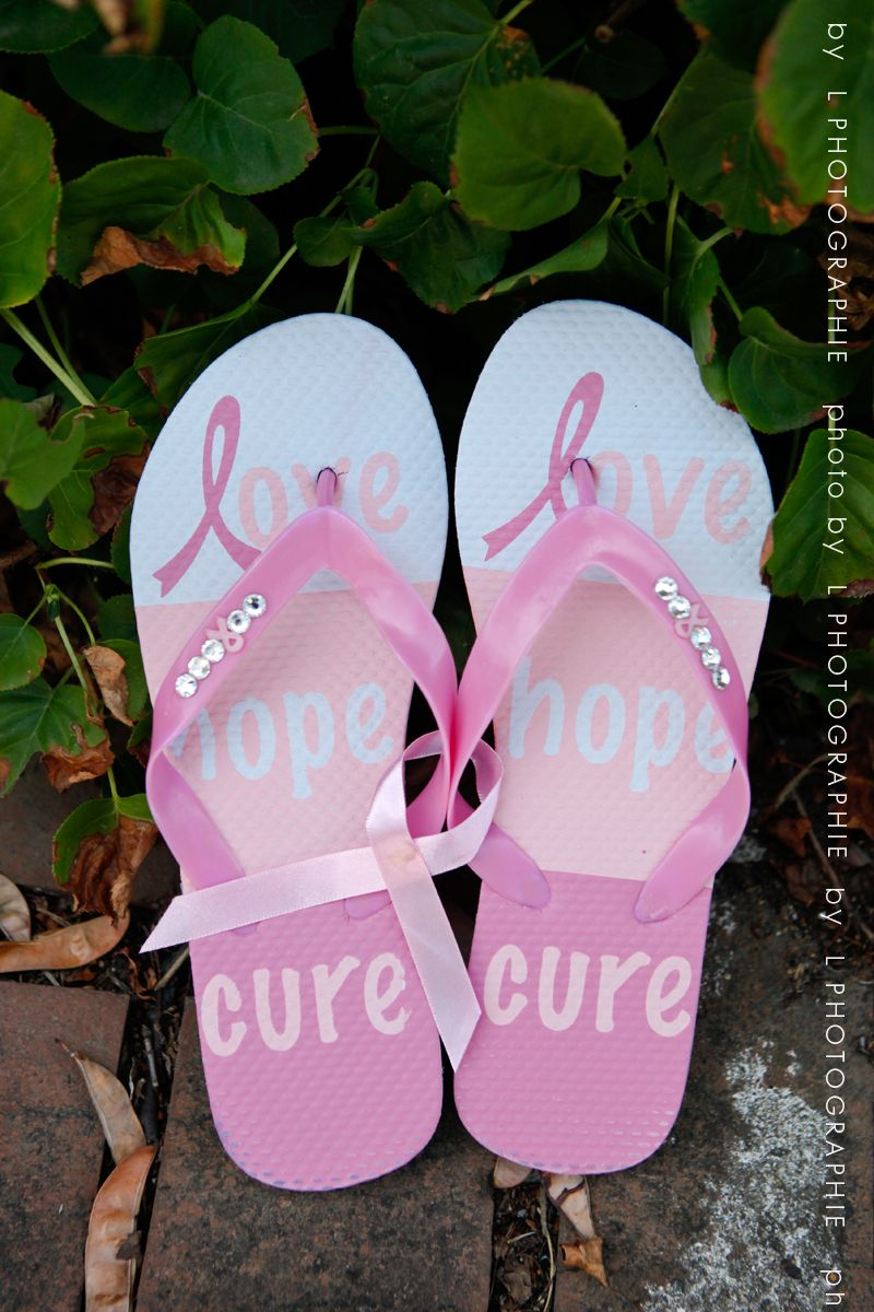 061956616463ec Flip Flops .. love hope cure