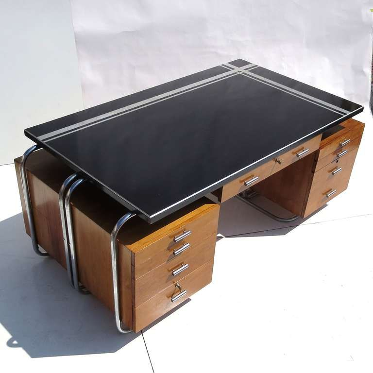 Art Deco Desk From New York City Woolworths Art Deco Desk Art - Art deco furniture designers desks