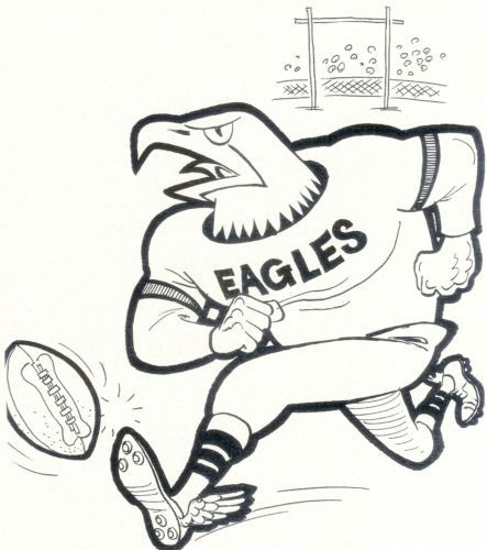 Philadelphia eagles 8x10 team photo card mascot vintage football nfl - new eagles to coloring pages