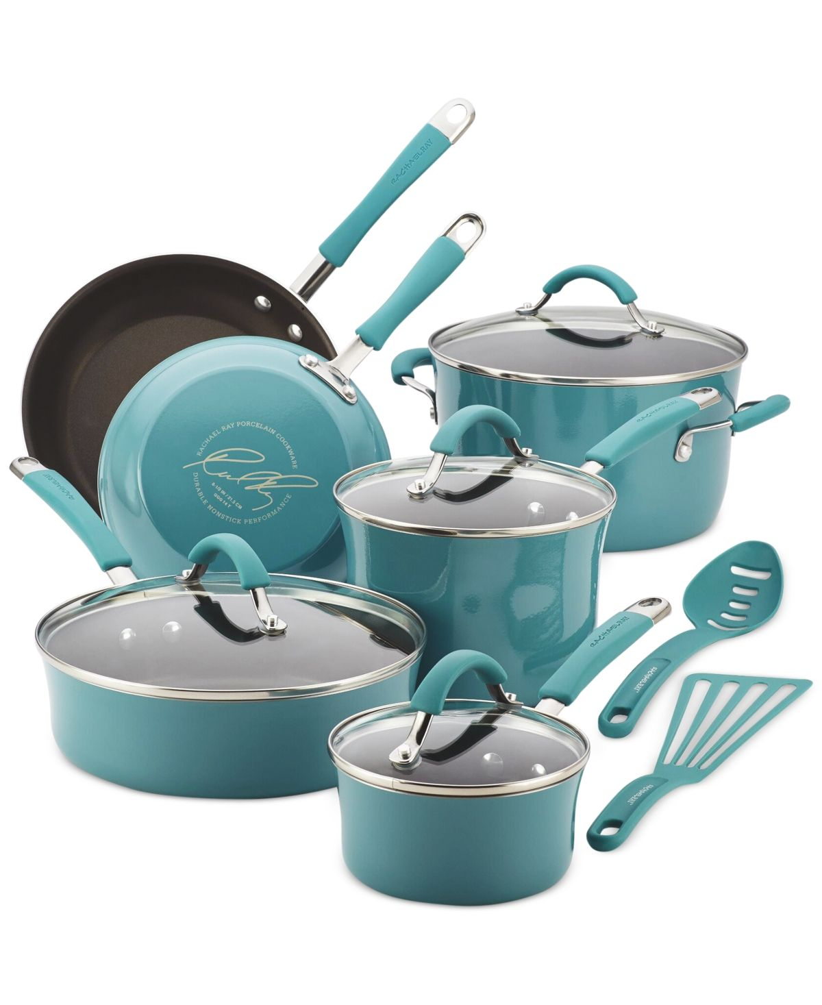 Rachael Ray Cucina Hard Enamel Nonstick 12Piece Cookware