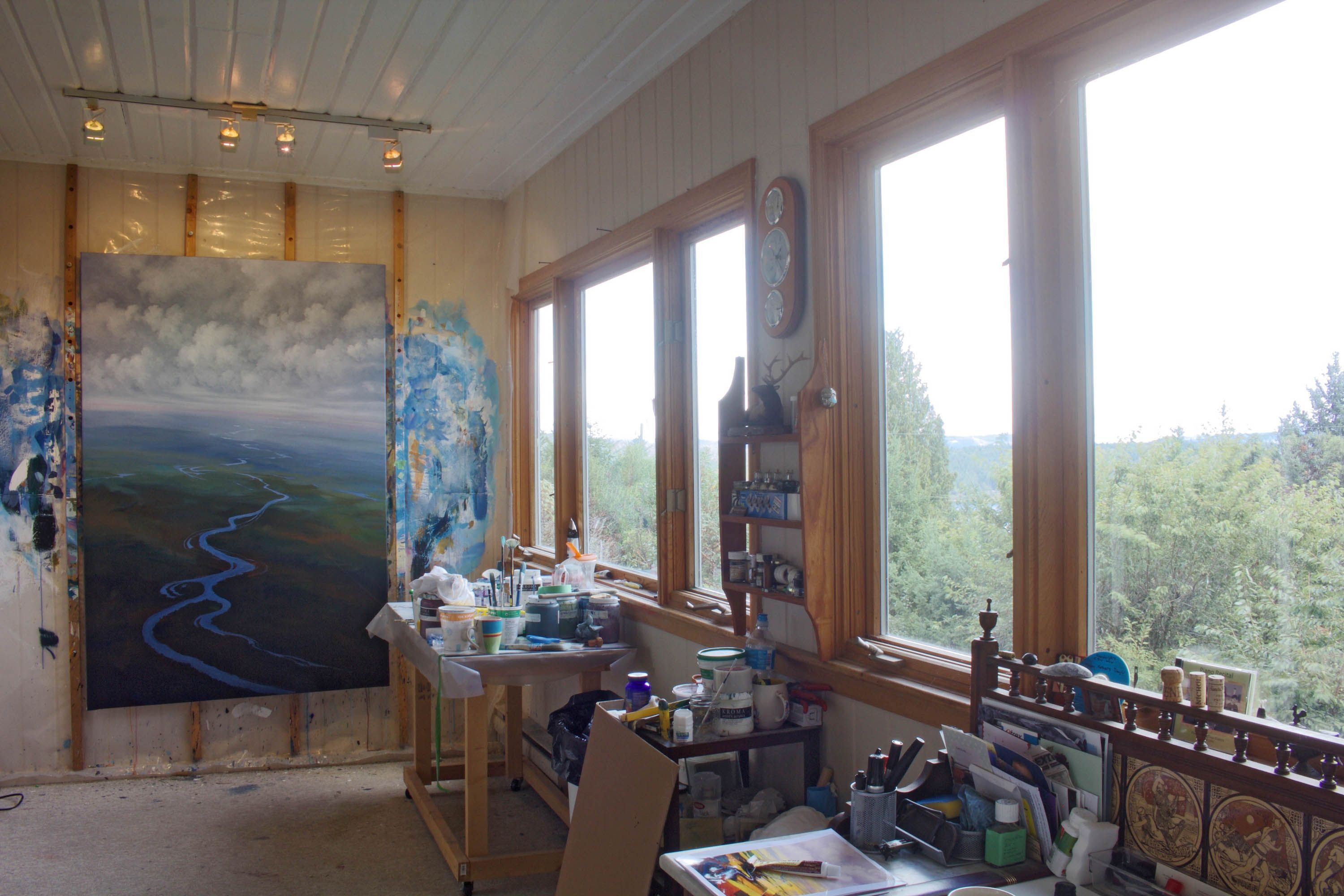 In the Salt Spring Island studio of Randolph Parker Salt