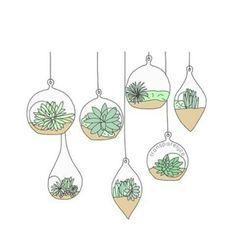 """Résultat de recherche d'images pour """"doodle succulents"""""""
