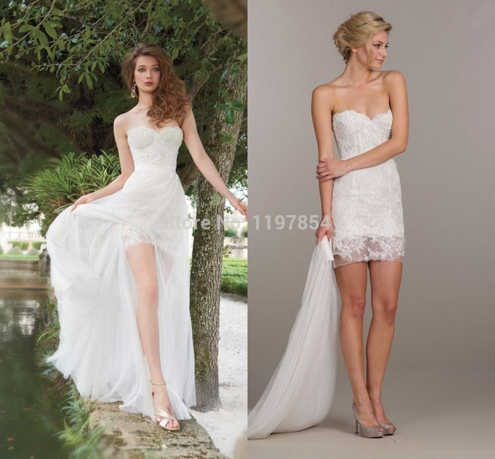 Find more wedding dresses information about detachable skirt find more wedding dresses information about detachable skirt wedding dress sweetheart backless sexy high low bridal ombrellifo Images