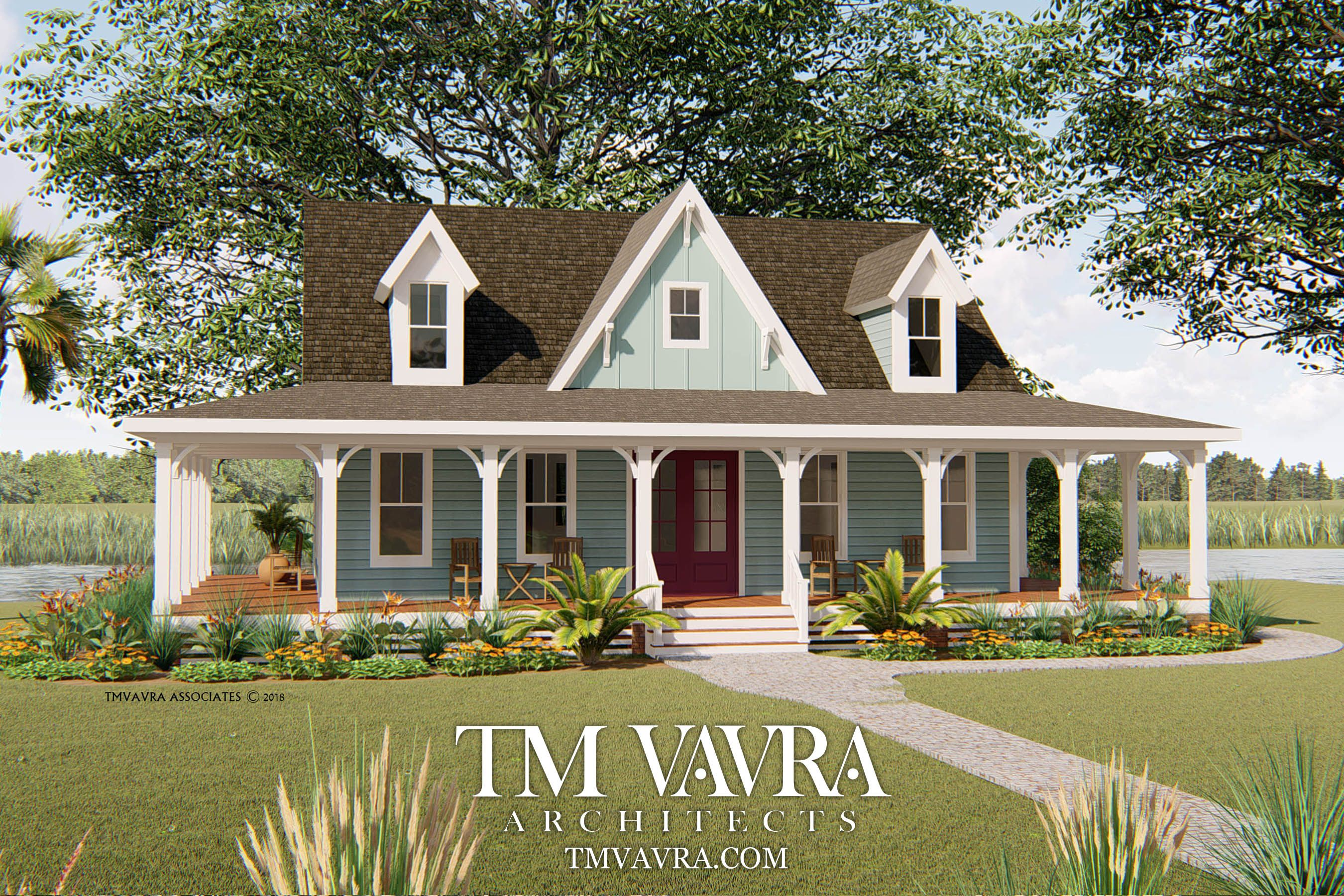The Rosemary Place Tm Vavra Architects House With Porch Country House Plans Small Country Homes