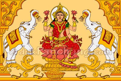 This page describes 16 steps to perform Lakshmi Puja