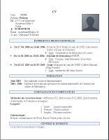 Exemple D Un Cv Marocain Simple A Imprimer Modele Cv Word Exemple Cv Exemple De Lettre De Motivation