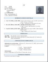 Exemple D Un Cv Marocain Simple à Imprimer Exemple Cv