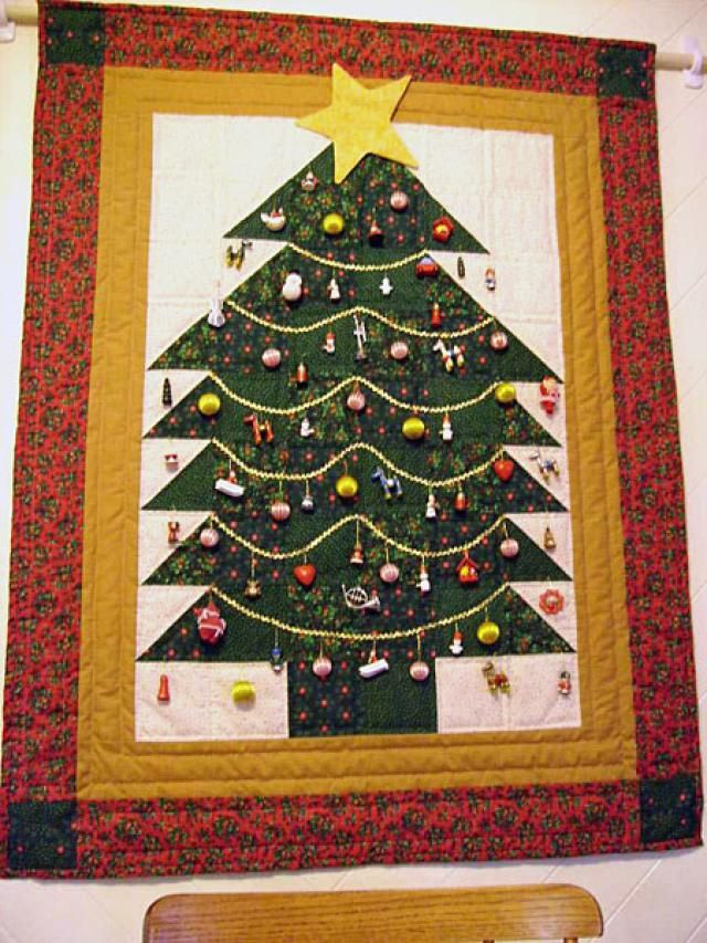 Trees, Christmas trees and Bright stars on Pinterest : quilt christmas tree - Adamdwight.com