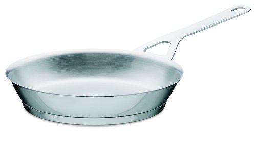 "A Di Alessi,AJM110/24 ""POTS & PANS"", Frying pan in 18/10 stainless steel mirror polished,1 qt 26 ? oz"