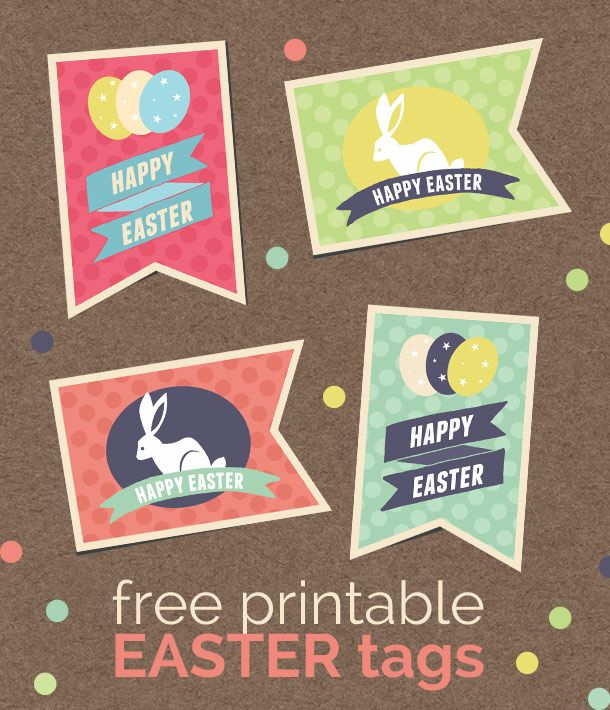 Free printable retro easter tags negle Gallery