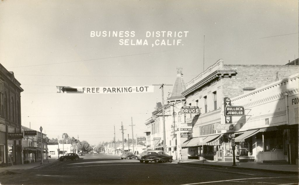 2nd St Westbound Selma California Old School Pictures School Pictures